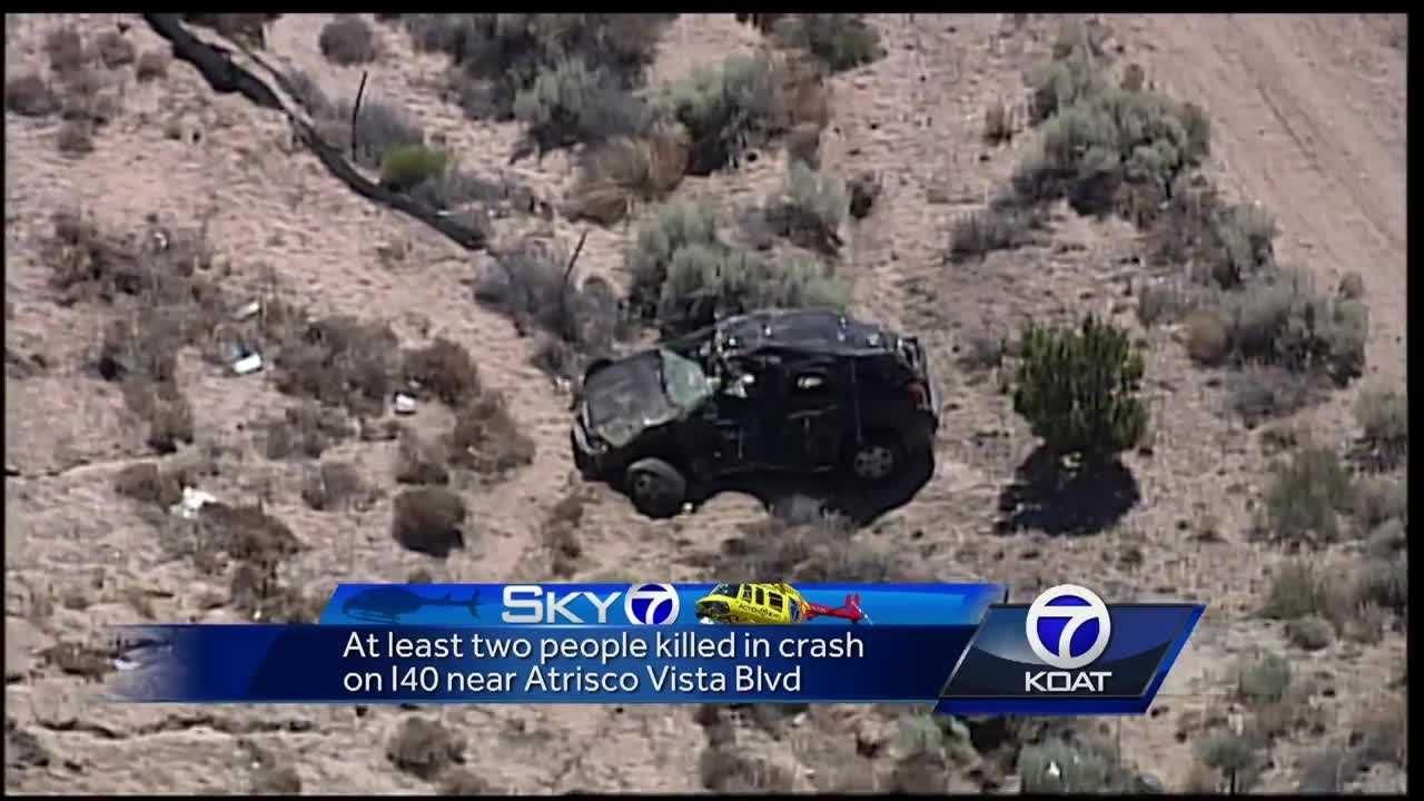 New Mexico State Police officers are investigating a fatal vehicle crash that took place Friday morning on I-40 just east of the Atrisco Vista off-ramp.