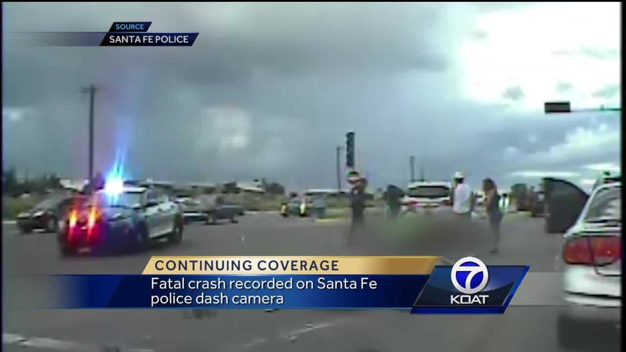 Fatal crash recorded on Santa Fe Police dash camera