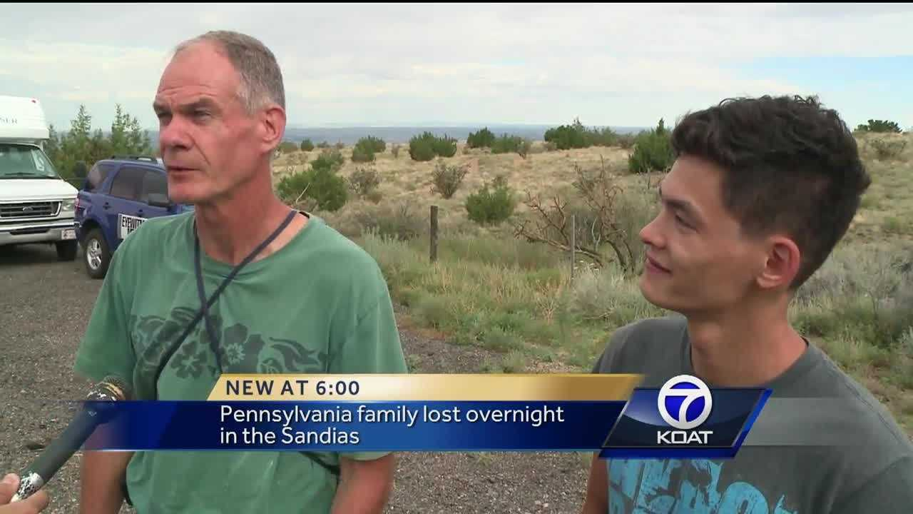 The family had to stay overnight because the Sandias were too dangerous to send in a rescue team on the ground.