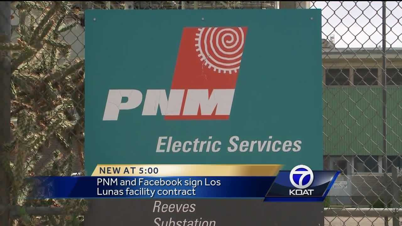 PNM and Facebook sign Los Lunas facility contract on Tuesday. Commissioners will review the final proposal on Wednesday.