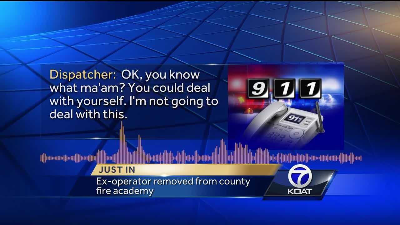 The 911 operator who hung up on the middle of an emergency Jaydon Chavez-Silver wanted to be a first responder again. Matt Sanchez was booted out of the Bernalillo County Academy just a few weeks after the latest class started.