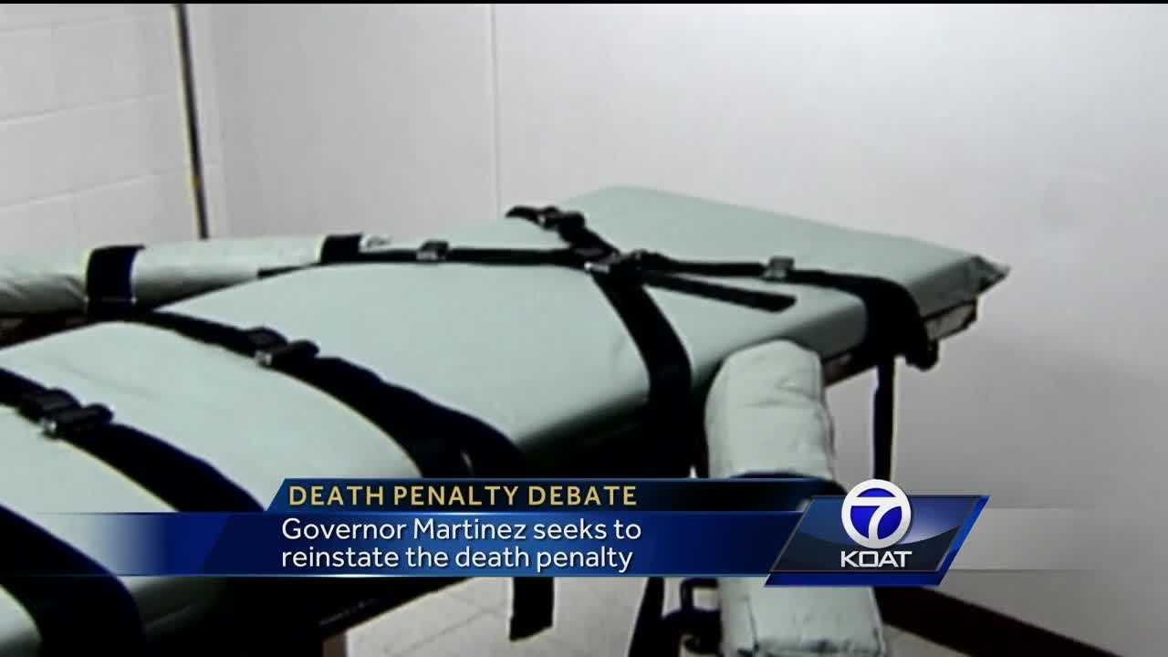 New Mexico Gov. Susana Martinez will push to reinstate the death penalty in response to the killing of a municipal police officer in the south of the state and other recent events.