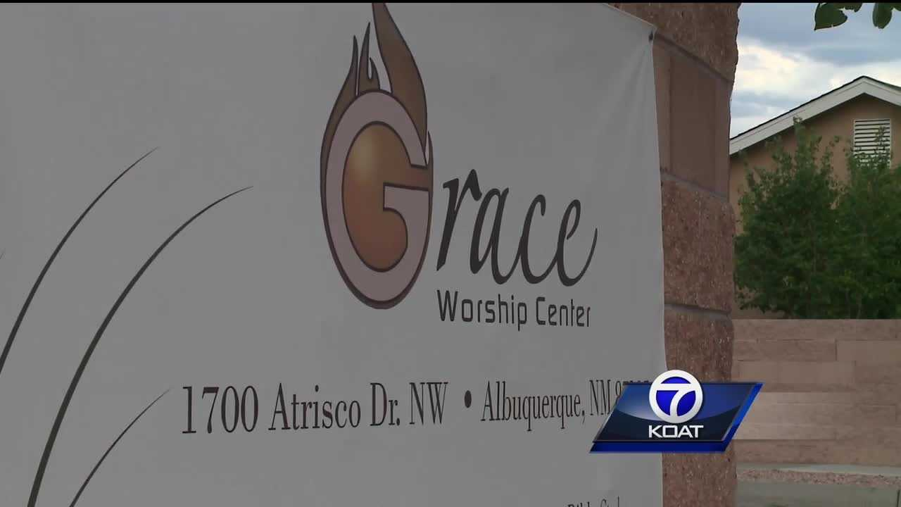 The Grace Worship Center is like a walled fortress with security cameras, bars on the windows and even has steel doors.