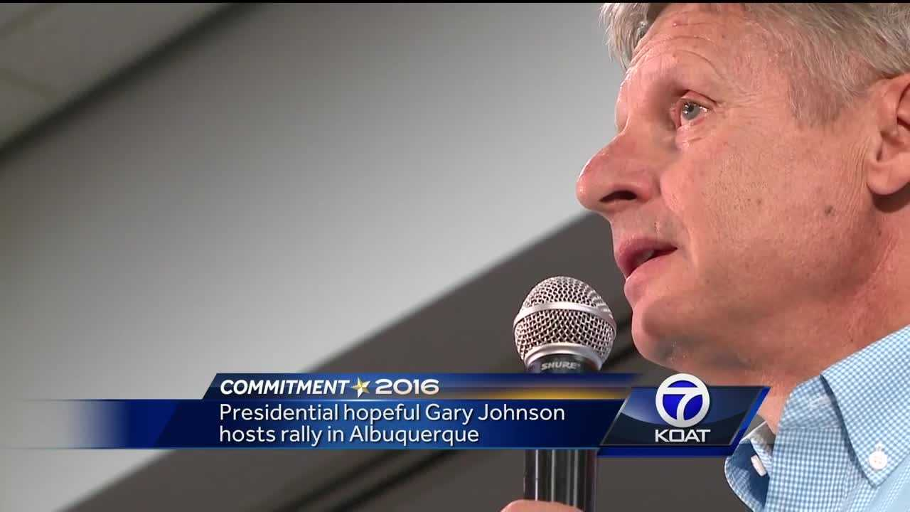 Former Gov. Gary Johnson told voters if they want a trustworthy, experienced leader, he's their man. He delivered a hard-hitting speech Saturday afternoon that won over the crowd.