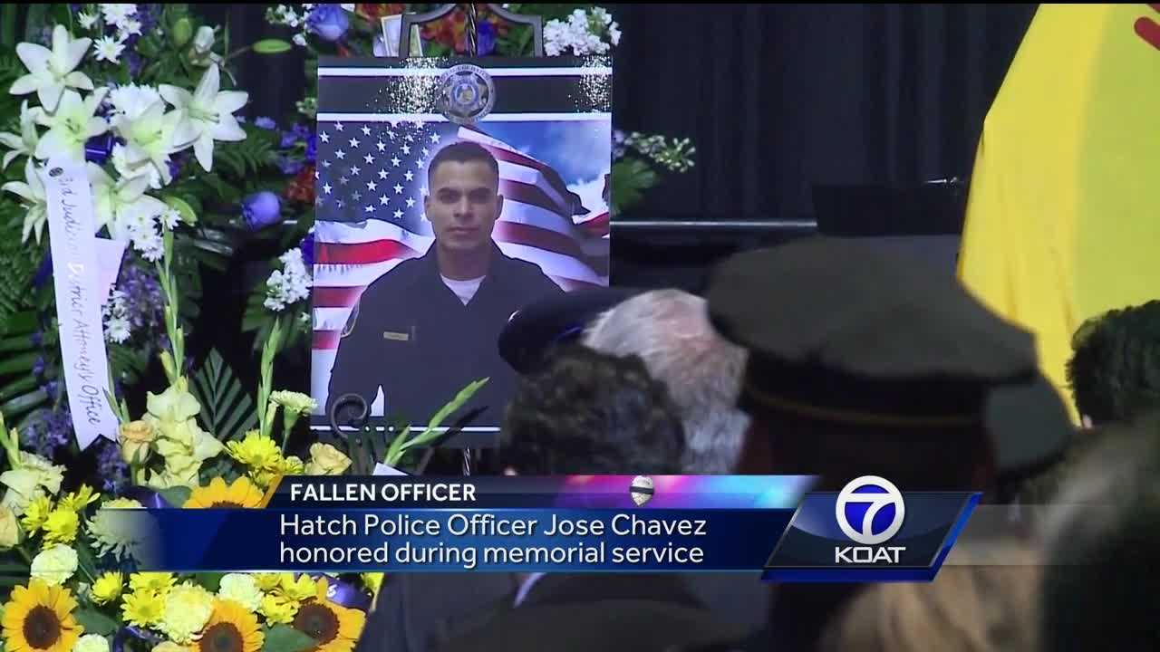 Hatch Police Officer Jose Chavez honored during memorial service.
