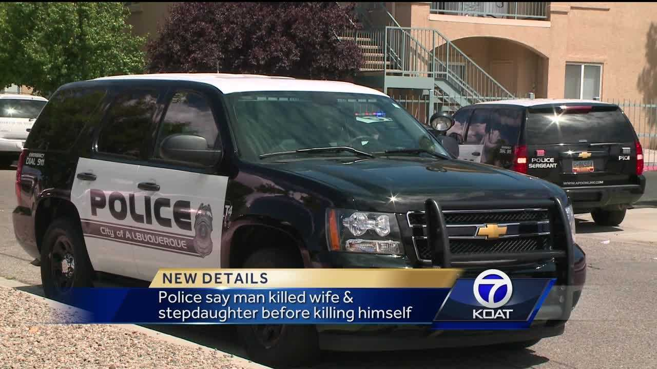 Police say man killed wife and stepdaughter before killing himself.