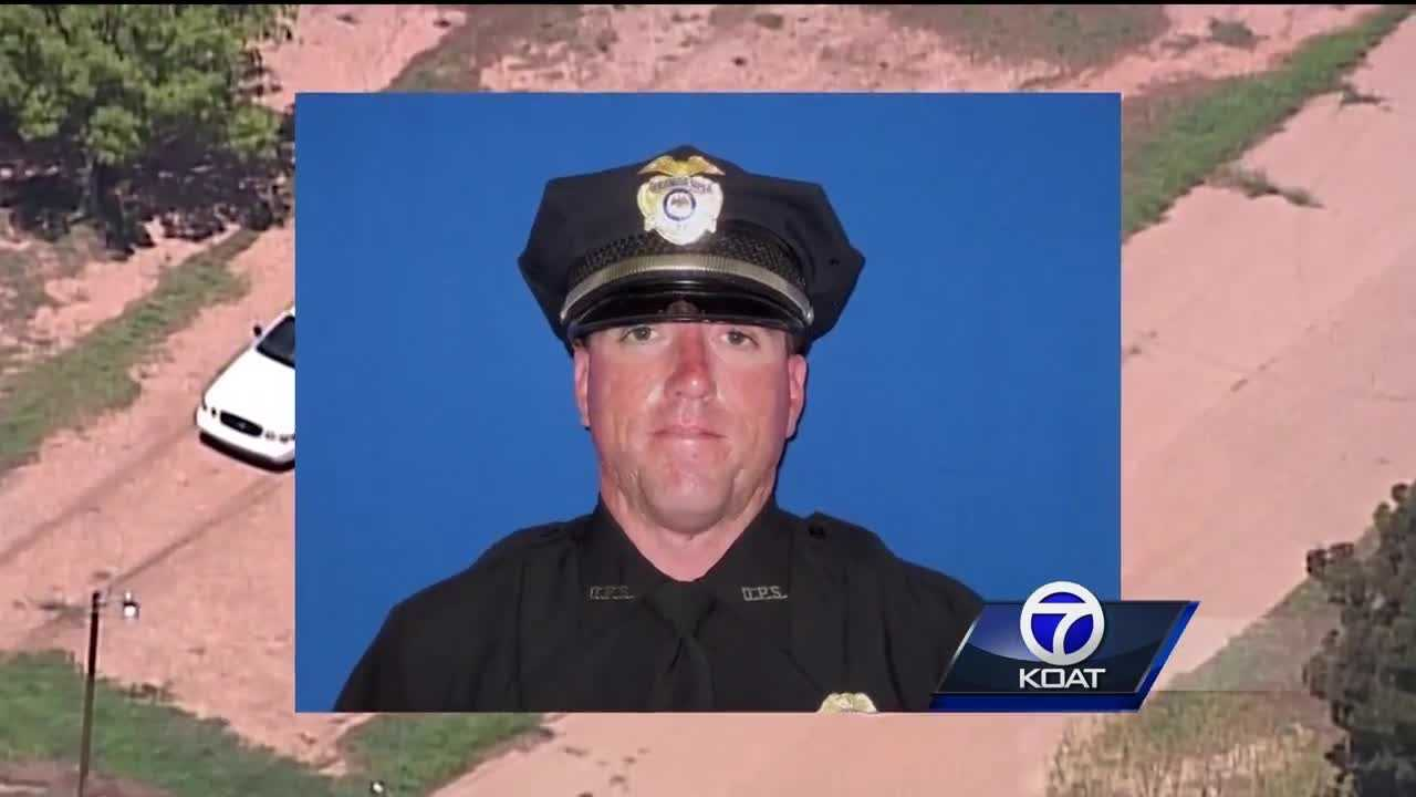 Alamogordo police say Officer Clint Corvinus was on a routine patrol when he encountered a wanted man.