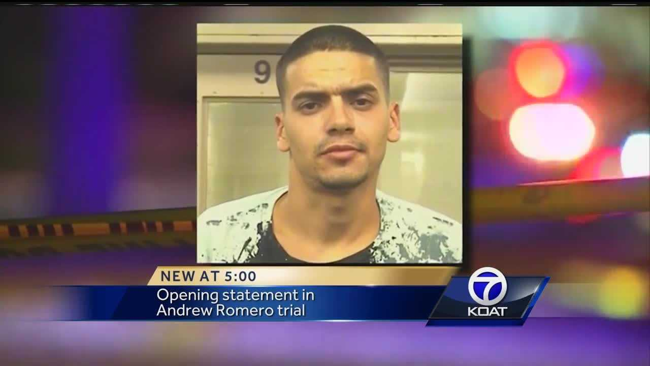 Andrew Romero is accused of shooting and killing Rio Rancho police Officer Gregg Benner on May, 25, 2015.