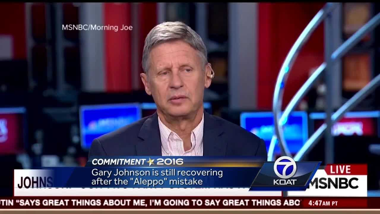 "Gary Johnson is still recovering after the ""Aleppo"" mistake."