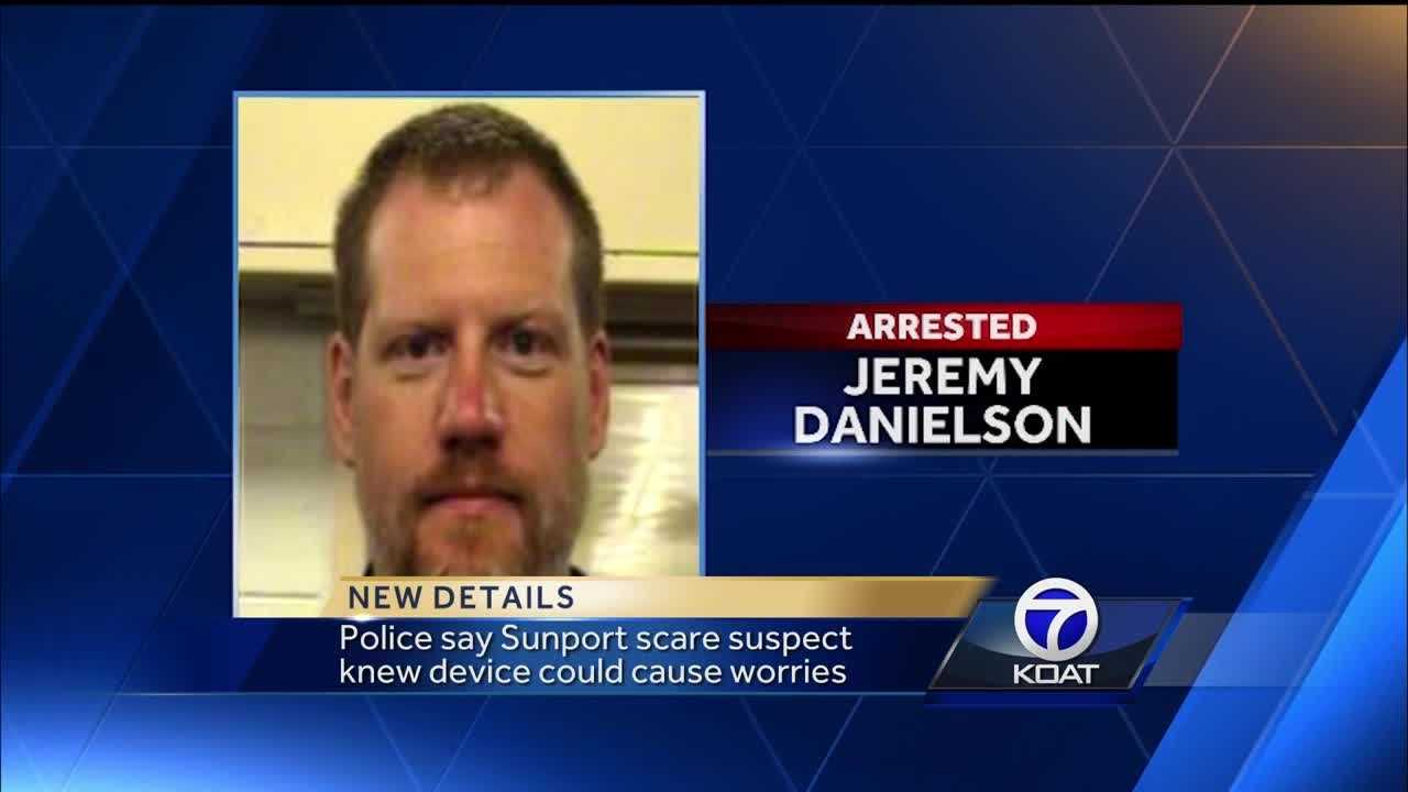 According to a criminal complaint, Jeremy Danielson knew something in his backpack could cause a problem with airport security.