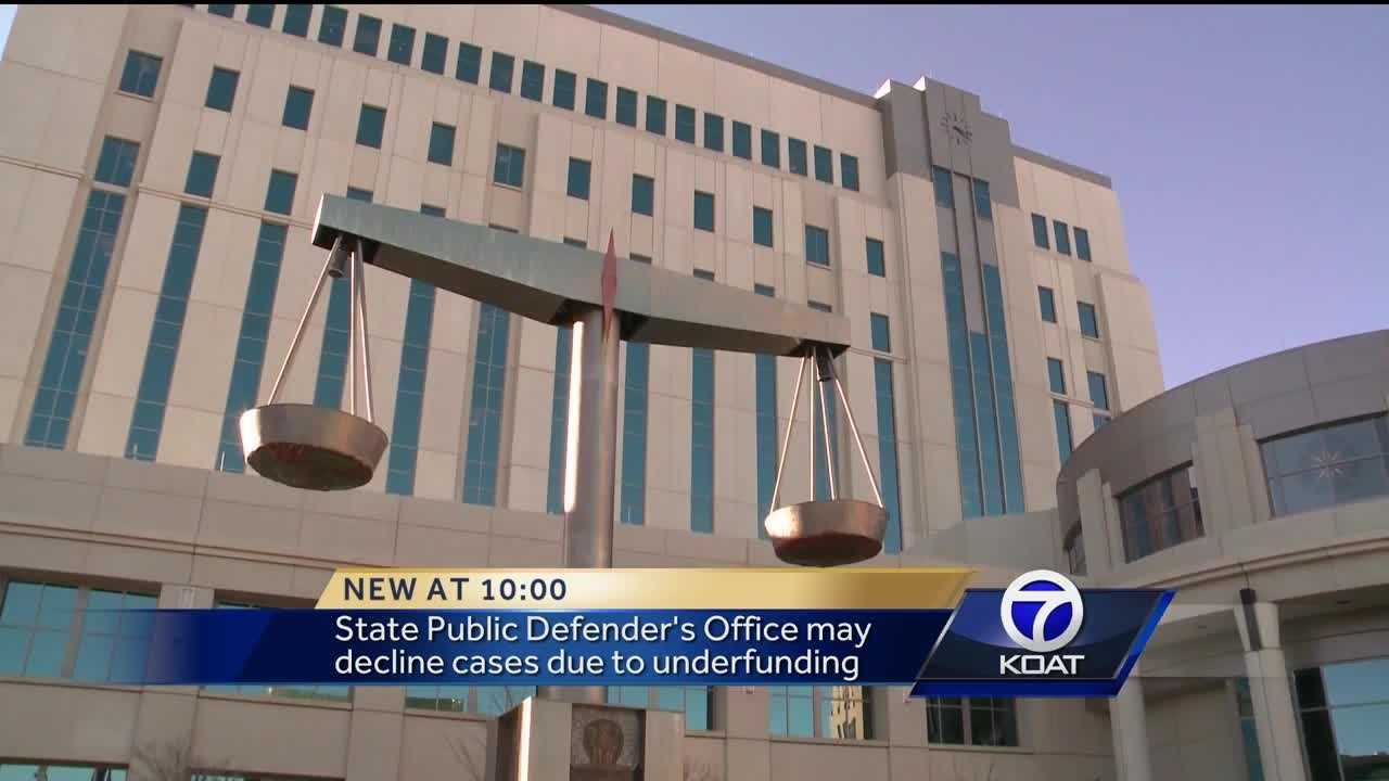 State Public Defender's Office may decline cases due to under funding.