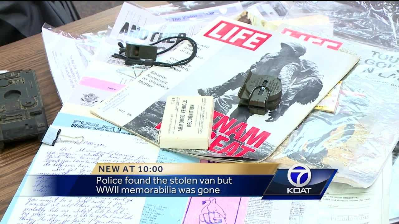 Police found stolen van but WWII memorabilia was gone.