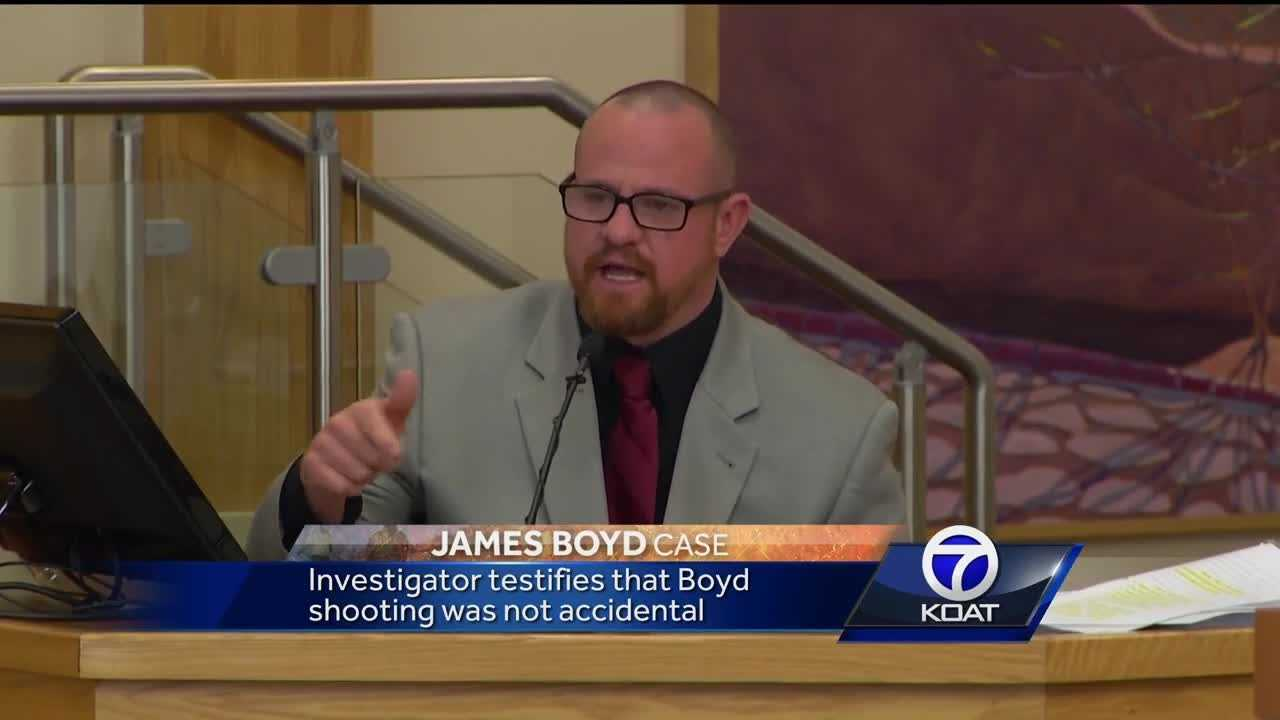 Investigator testifies that Boyd shooting was not accidental.