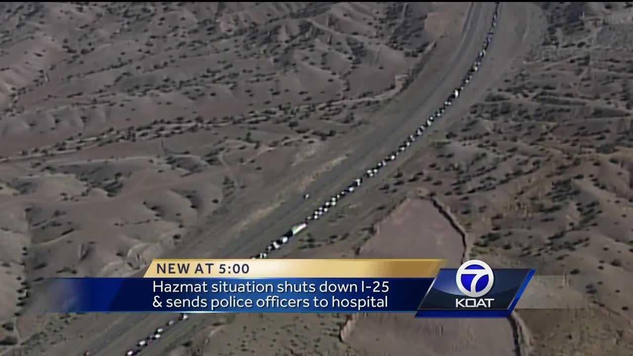Hazmat incident shuts down I-25