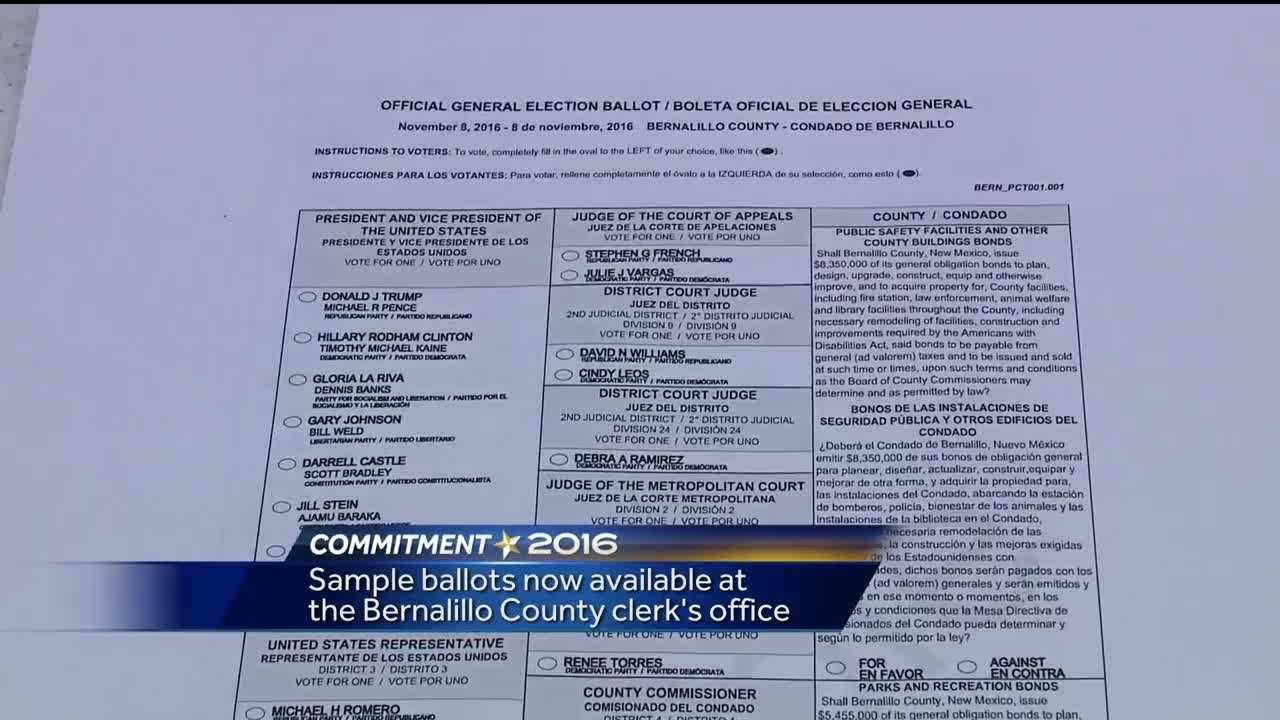 Sample ballots now available in New Mexico
