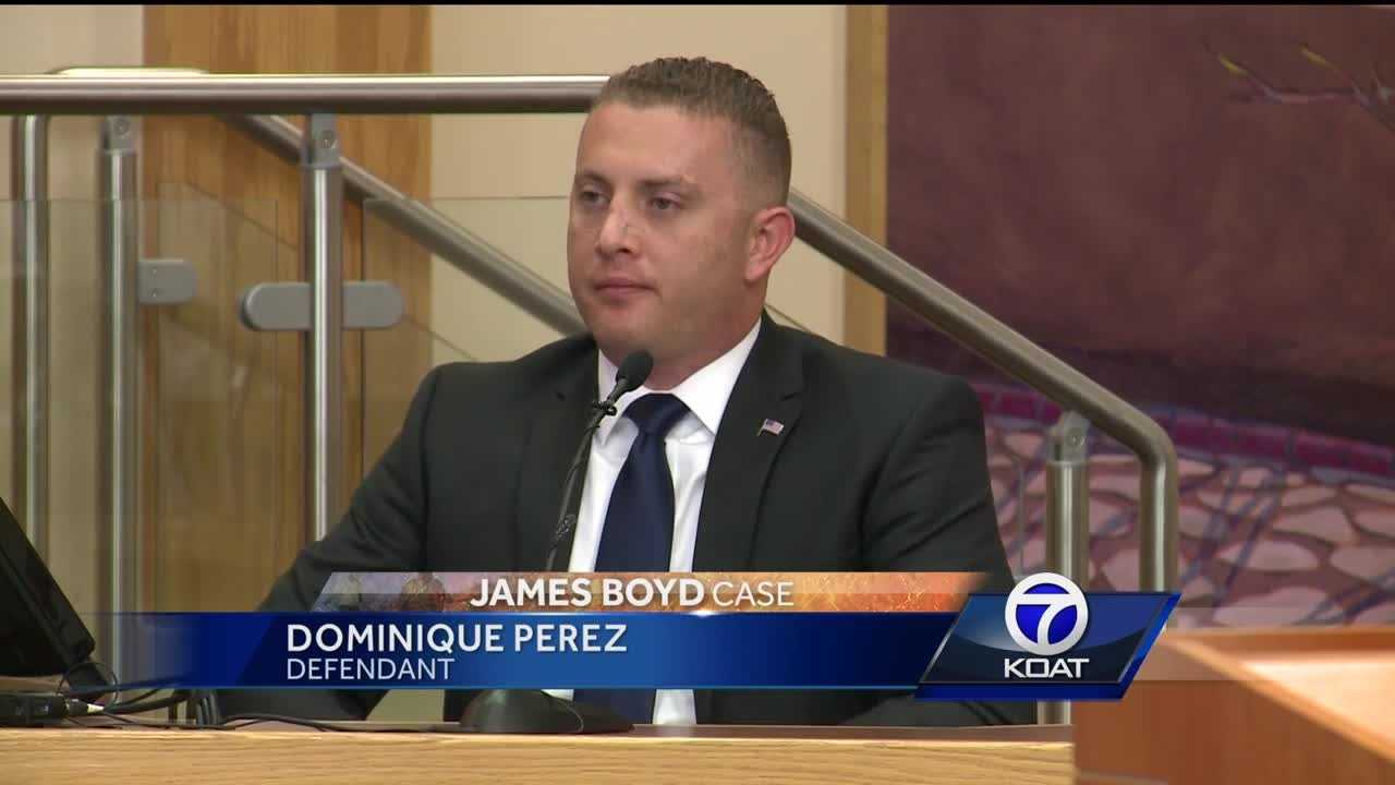 Perez said he fired to protect another officer who was in danger.