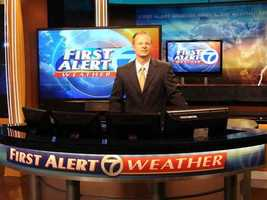 Byron Morton at the Weather Center.