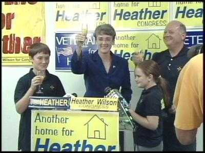Heather Wilson is vying for the Republican Party's nomination for U.S. Senate. Wilson previously served in Congress as the representative for New Mexico's First Congressional District.