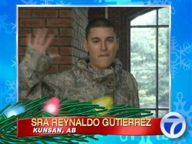 Senior Airman Reynaldo Gutierrez sends his greetings from Kunsan Air Base.