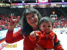 Our u local member daizee shared this photo of Sophia and her aunt showing their support at a recent Lobos game.