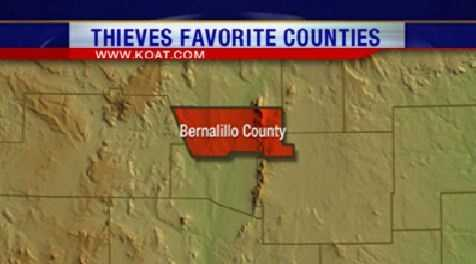 1. Bernalillo County had 2,471 reports of property crime.