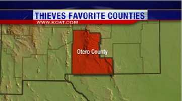 10. Otero County had 255 reports of property crime.