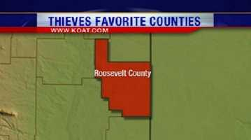 21. Roosevelt County had 58 reports of property crime.
