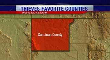 5. San Juan County had 766 reports of property crime.