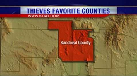 13. Sandoval County had 151 reports of property crime.