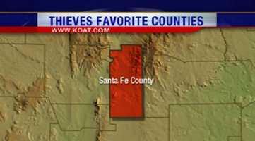 3. Santa Fe County had 1,208 reports of property crime.