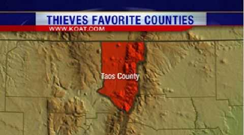 12. Taos County had 170 reports of property crime.
