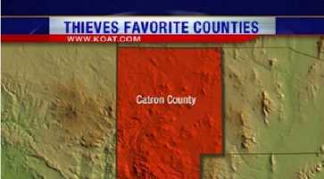 25. Catron County had 12 reports of property crime.