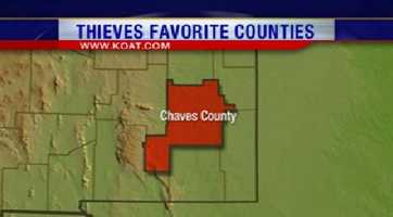 7. Chaves County had 399 reports of property crime.