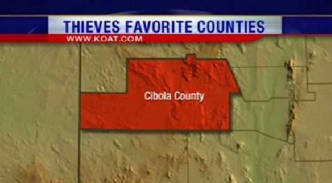 17. (Tie) Cibola County had 91 reports of property crime.