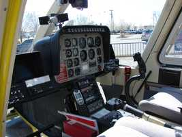 Inside the front cockpit, Lawson controls Sky 7.