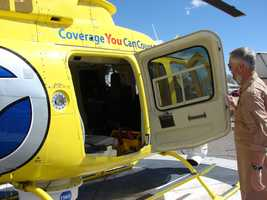 The Sky 7 helicopter weighs around 2,900 pounds without any passengers in it.
