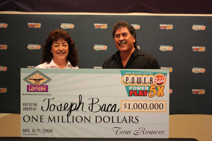 14. Joseph Baca from Las Vegas, New Mexico cashed in a $1 million Powerball ticket.
