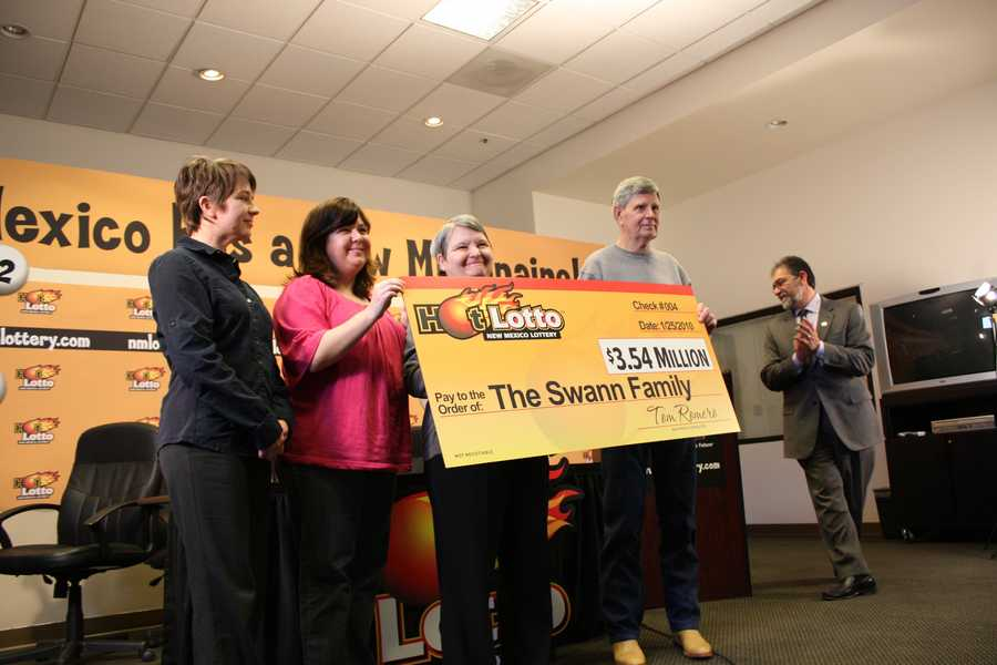 7. Bill and Janet Swann split a $3.54 million Hot Lotto jackpot with winners from Austin, Texas.