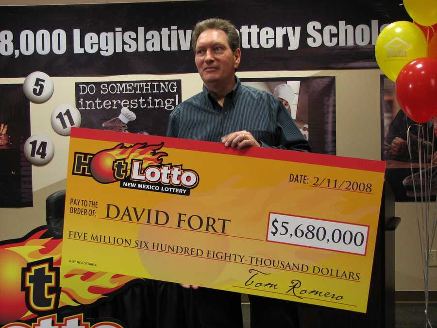 6. David C. Fort cashed in on a $5.6 million Hot Lotto jackpot