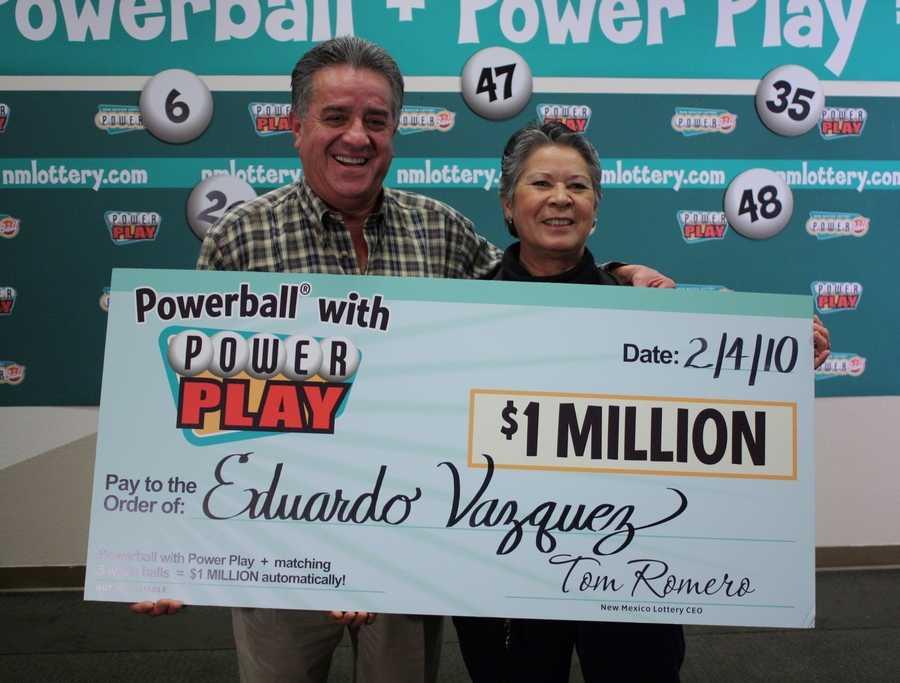 13. Eduardo Vazquez won $1 million playing Powerball
