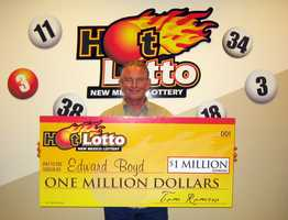 9. Edward Boyd made $1 million playing the Hot Lotto drawing.
