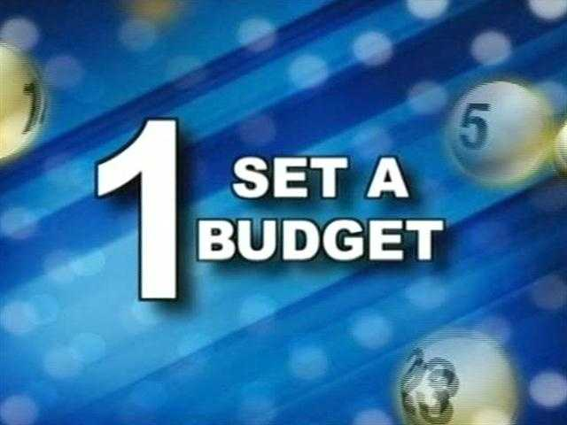 Lustig's first tip is to set a set a budget.