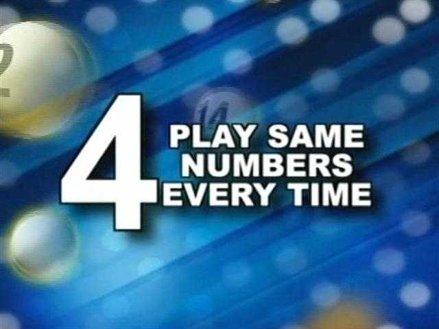 Lustig's fourth tip is to play your same numbers every single time.