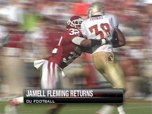 Oklahoma's defensive back position got a whole lot stronger with the announcement that Jamell Fleming was returning to the team.