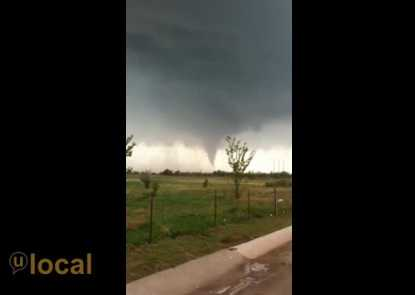 A U Local community member uploaded this pic of a tornado near Woodward on Saturday.