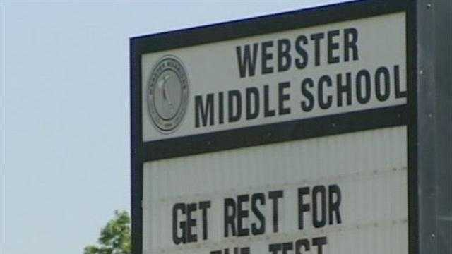 School officials investigate an incident in which two students pass out at Webster Middle School -- and officials think a substance could be to blame.