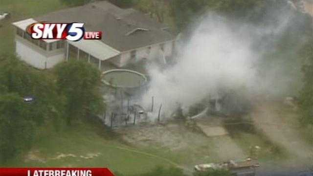 Firefighters were called to a house fire at SE 119th, Triple X Road on Monday afternoon.