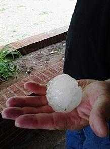 The largest hailstone ever recovered in the United States fell in Aurora, Nebraska on June 22, 2003, with a record 7-inch diameter and a circumference of 18.75 inches.
