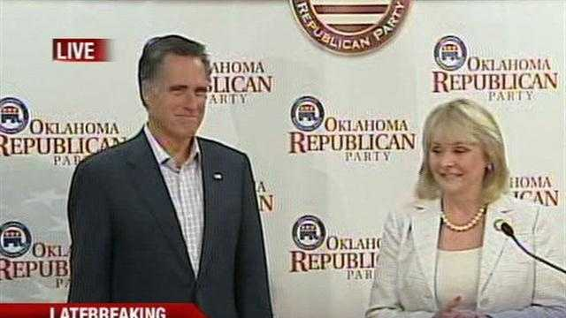 Oklahoma Gov. Mary Fallin says likely Republican nominee Mitt Romney should be the next president of the United States.
