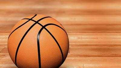basketball on court 2
